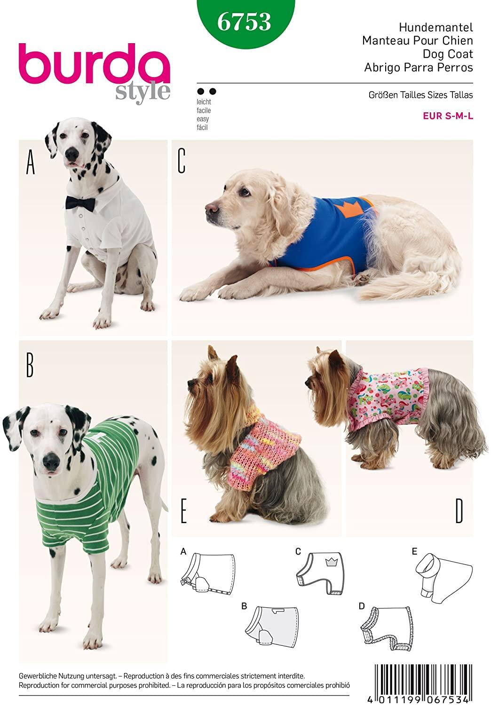 Burda B6753 Pet Clothings