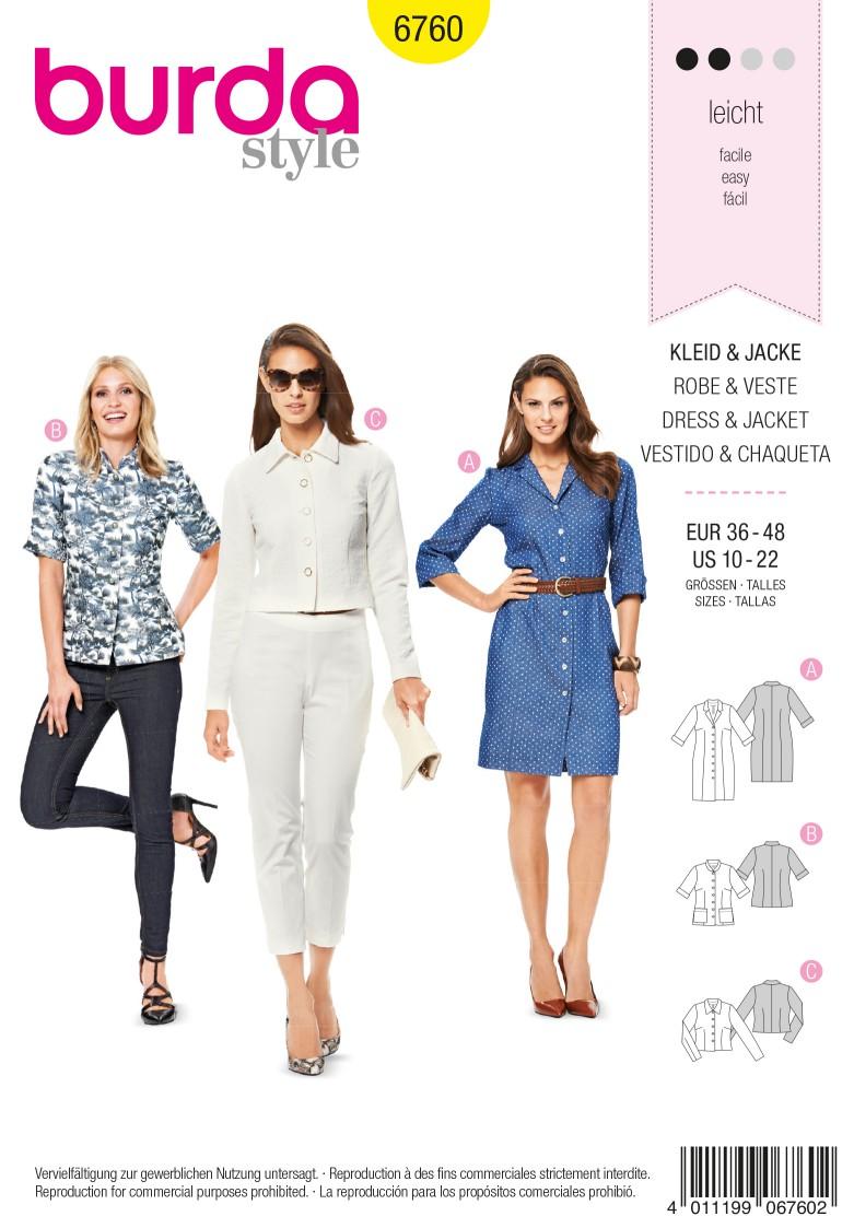 Burda B6760 Dresses Sewing Pattern