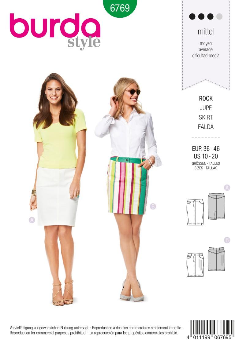 Burda B6769 Skirts Sewing Pattern