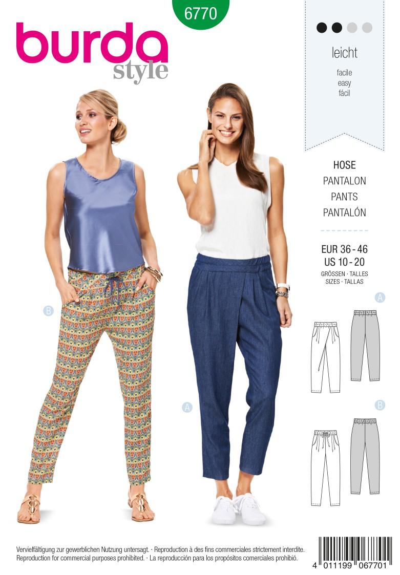 Burda B6770 Trousers, Jumpsuits Sewing Pattern