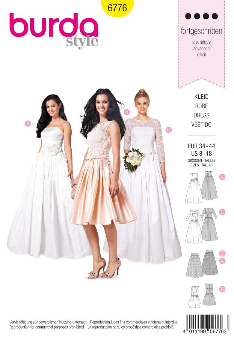 Burda B6776 Evening & Bridal Wear Sewing Pattern