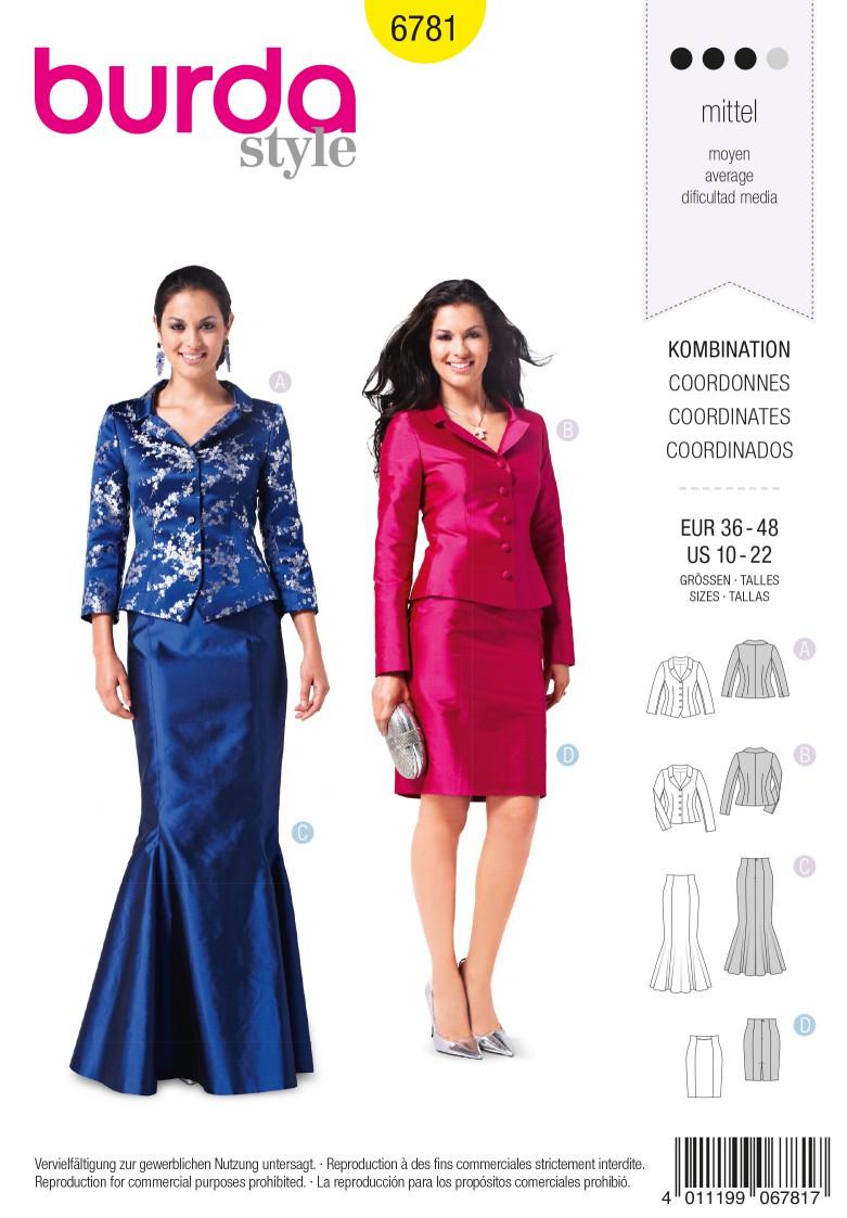 Burda B6781 Coordinates, Trousersuits, Suits Sewing Pattern
