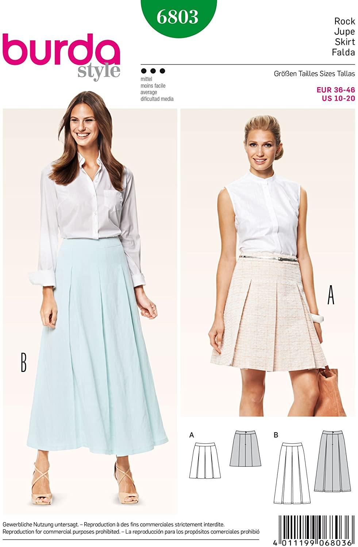 Burda B6803 Skirts Sewing Pattern