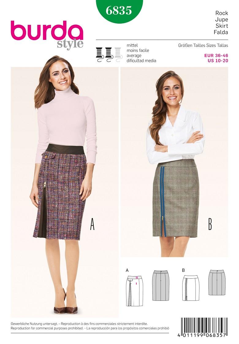 Burda Style B6835 Skirt Sewing Pattern
