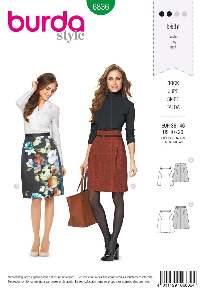 Burda Style B6836 Skirt Sewing Pattern