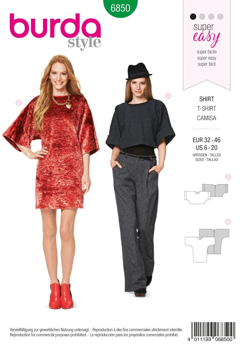 Burda Style B6850 Dress Sewing Pattern