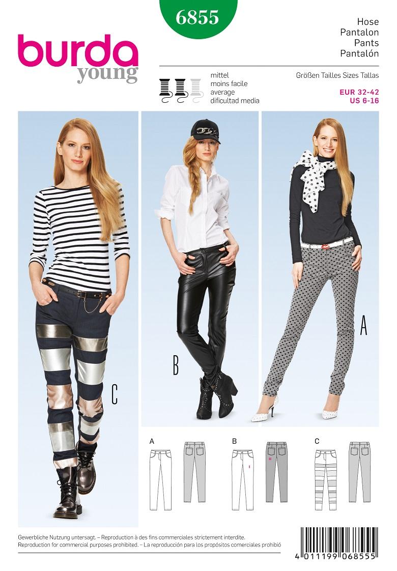 Burda Style B6855 Trousers & Jumpsuit Sewing Pattern