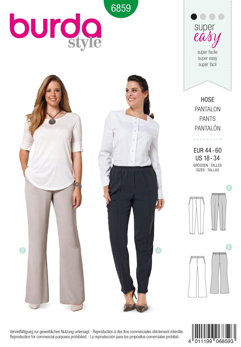 Burda Style B6859 Plus size Sewing Pattern