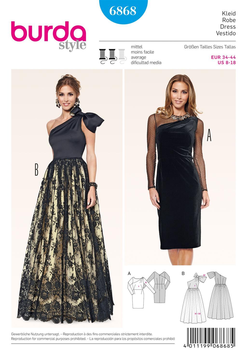 Burda Style B6868 Dress Sewing Pattern