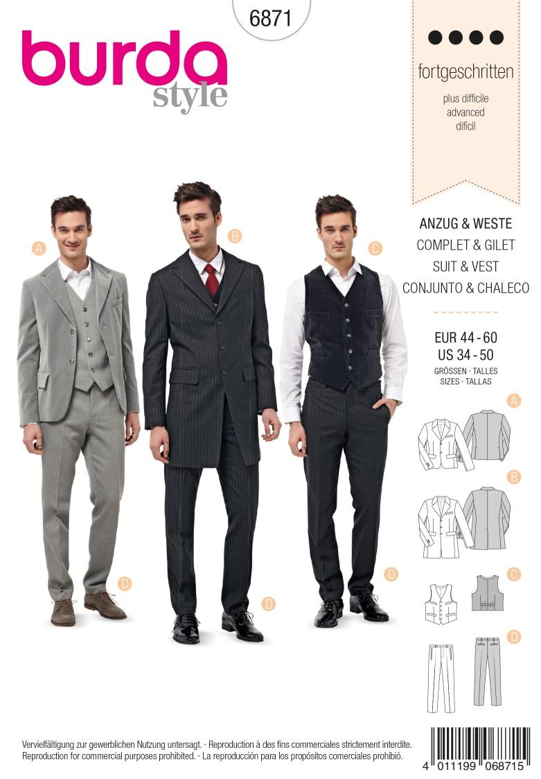 Burda Style B6871 Menswear Sewing Pattern