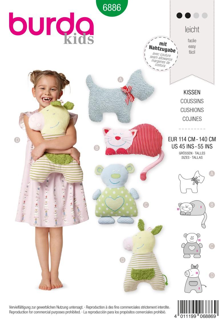 Burda Style B6886 Doll Clothes Sewing Pattern