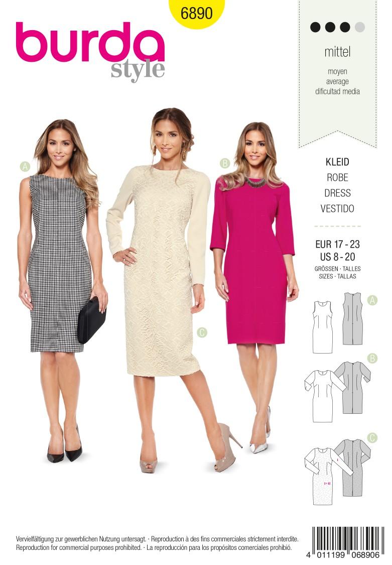 Burda B6890 burda style petite/half sizes Sewing Pattern