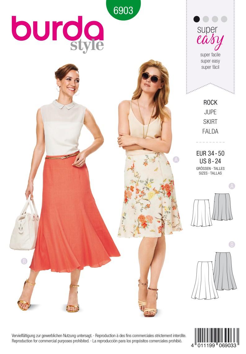 Burda B6903 Burda Style Skirts Sewing Pattern