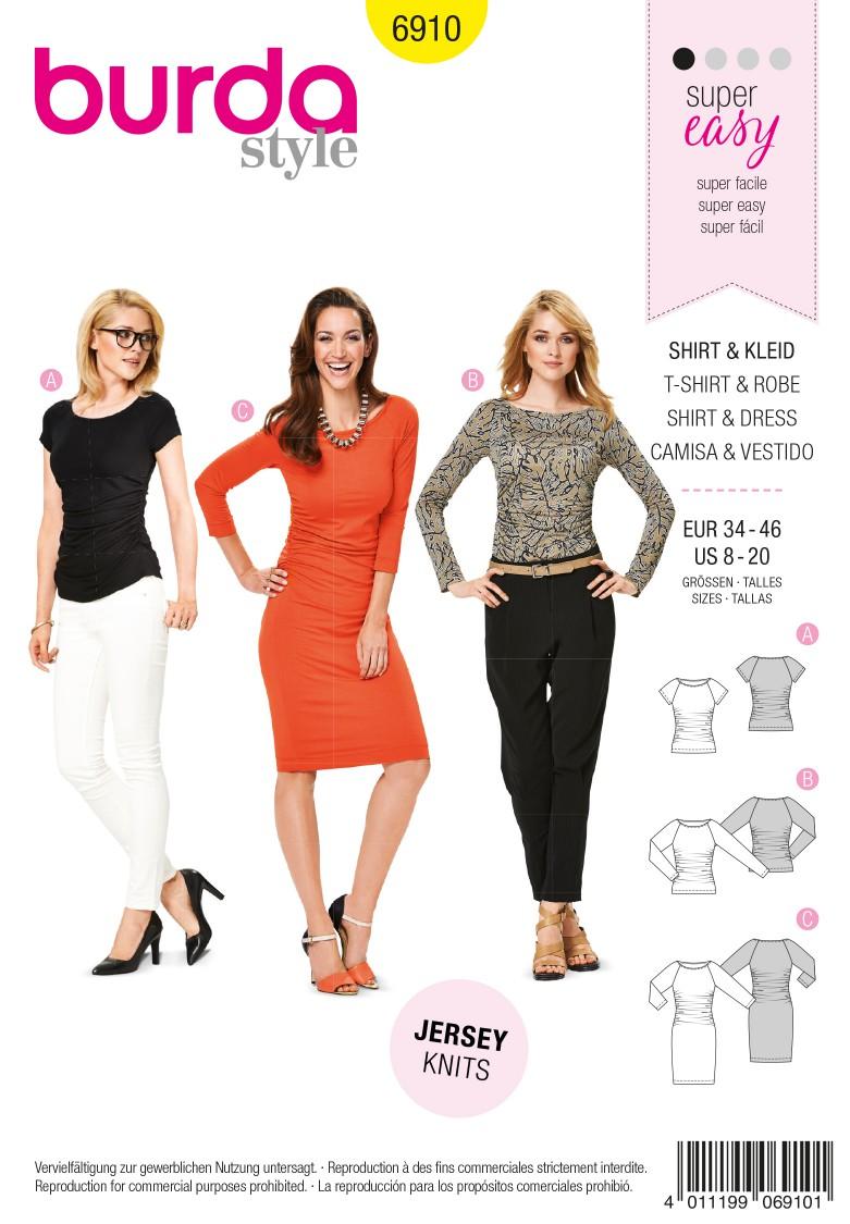 Burda B6910 Burda Style Dresses  Sewing Pattern