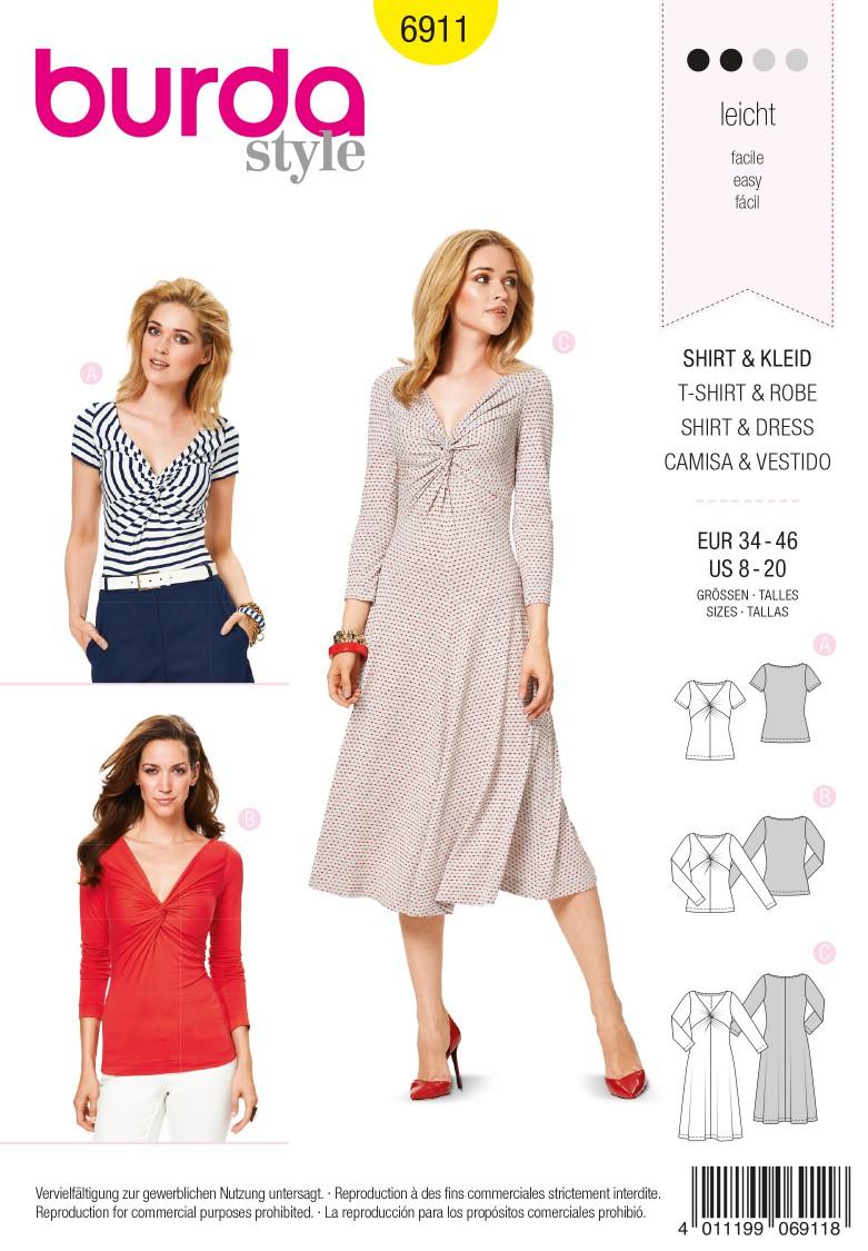 Burda B6911 Burda Style Dresses  Sewing Pattern