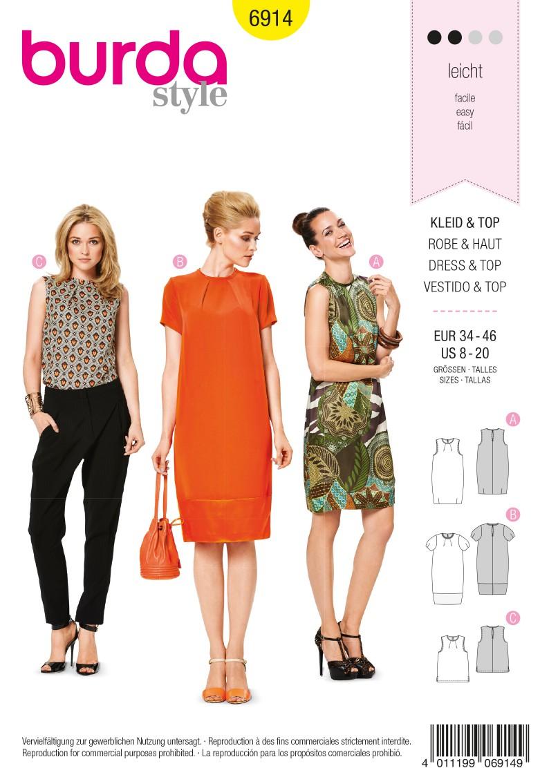 Burda B6914 Burda Style Dresses  Sewing Pattern