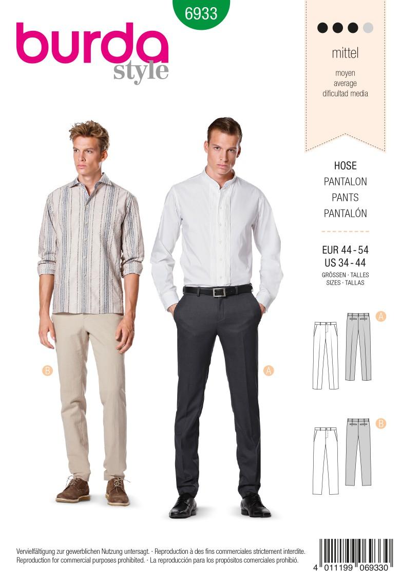 Burda B6933 Burda Style Menswear Sewing Pattern
