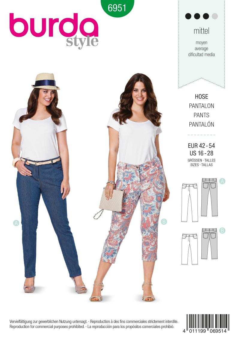 Burda B6951 Burda Style Plus to size 60 Sewing Pattern