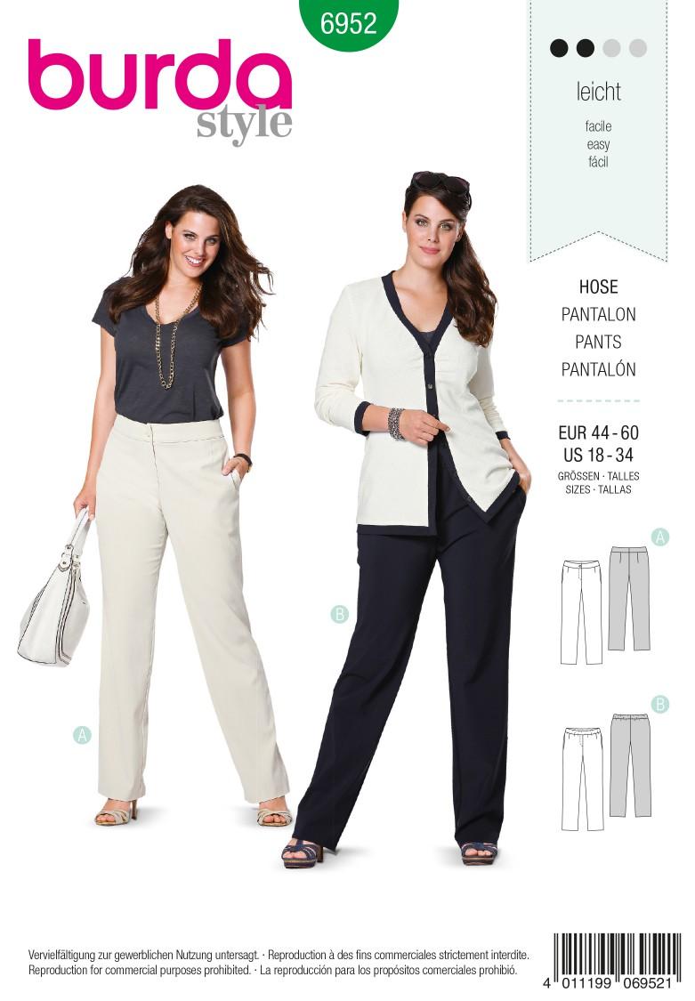 Burda B6952 Burda Style Plus to size 60 Sewing Pattern