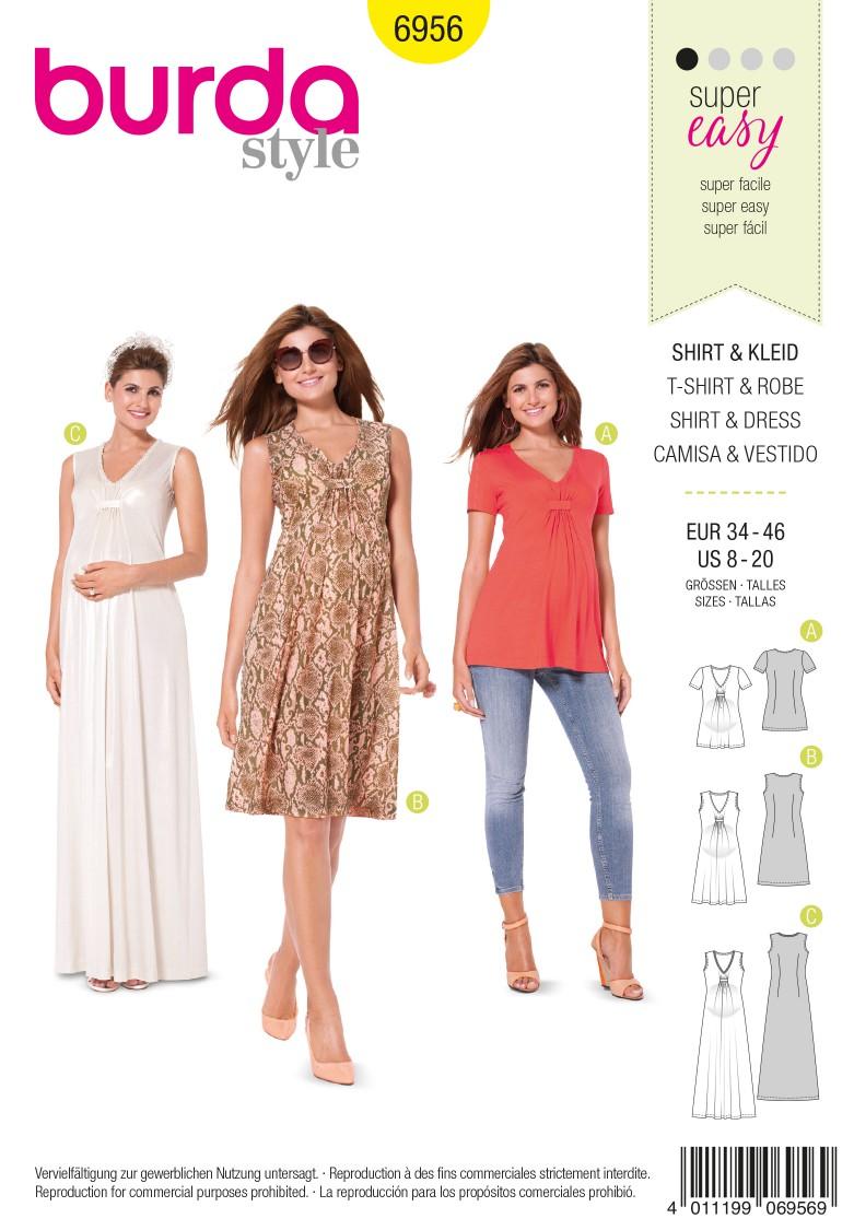 Burda B6956 Burda Style Maternity Wear Sewing Pattern