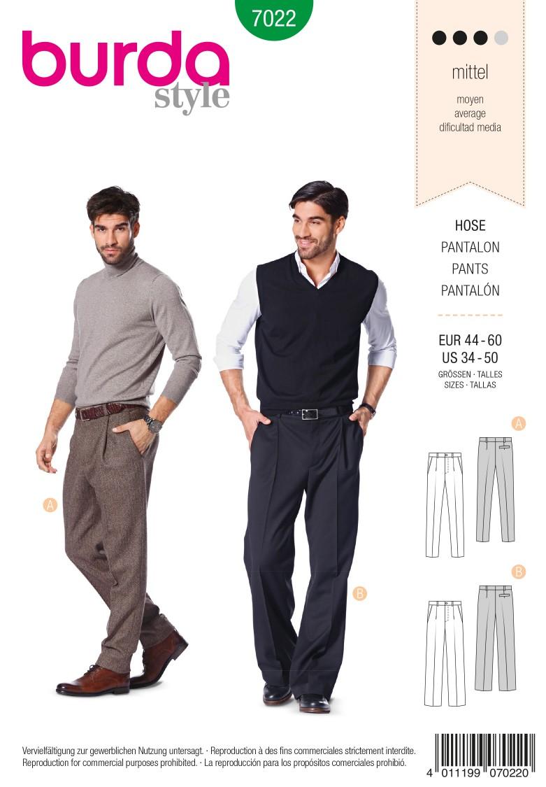 Burda B7022 Burda Style Trousers Sewing Pattern