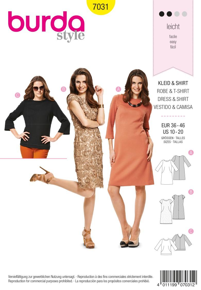 Burda B7031 Burda Style Dress & Shirt Sewing Pattern