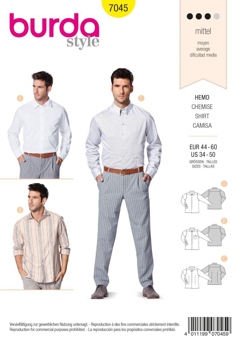 Burda Style B7045 Shirt Sewing Pattern