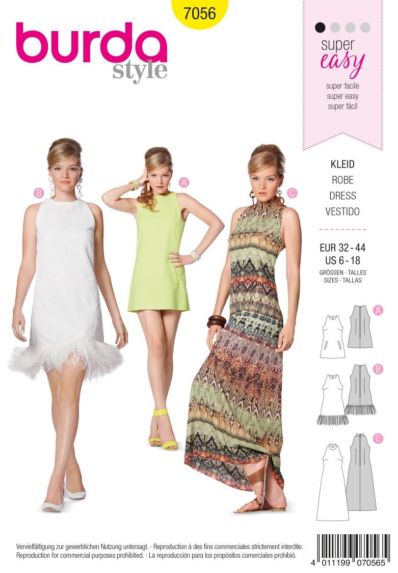 Burda Style B7056 Dress Sewing Pattern