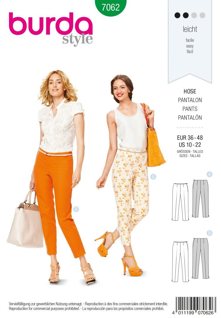 Burda Style B7062 Trousers Sewing Pattern