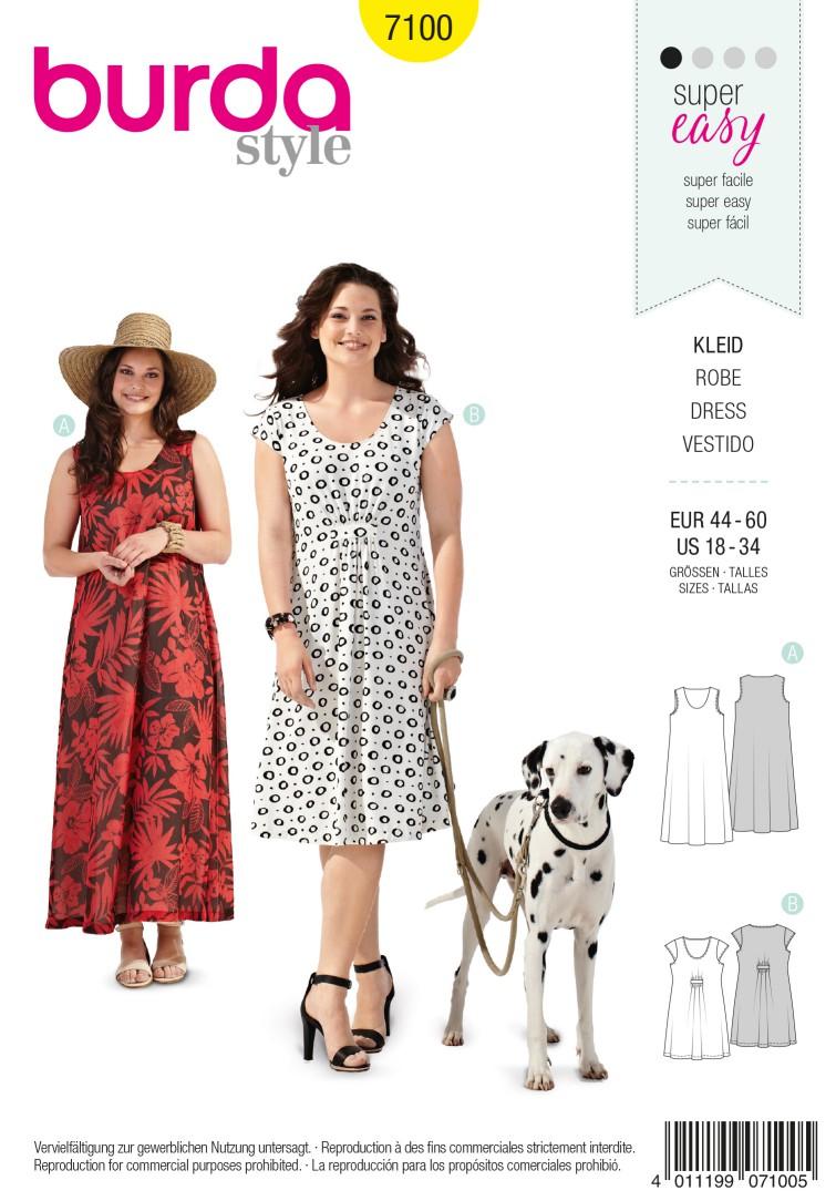 Burda Style B7100 Dress Sewing Pattern