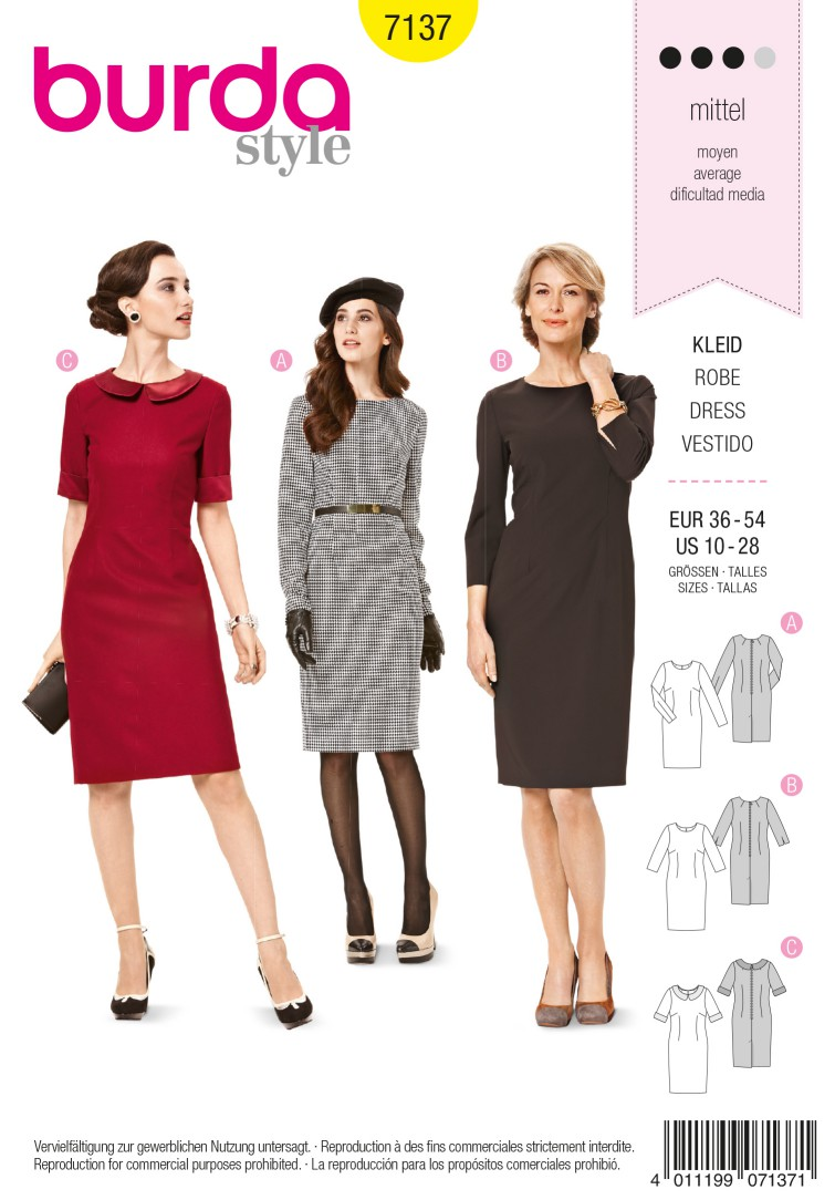 Burda B7137 Dress Sewing Pattern