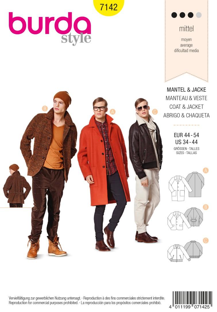 Burda B7142 Coat &Jacket Sewing Pattern