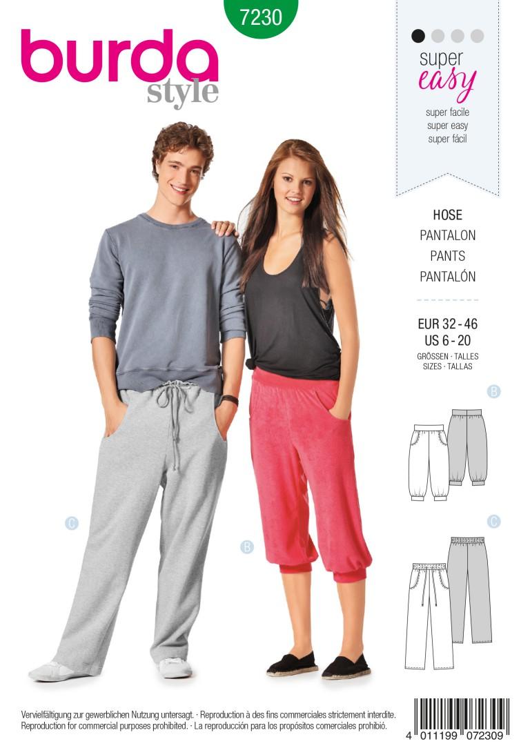 Burda Style B7230 Trousers Sewing Pattern