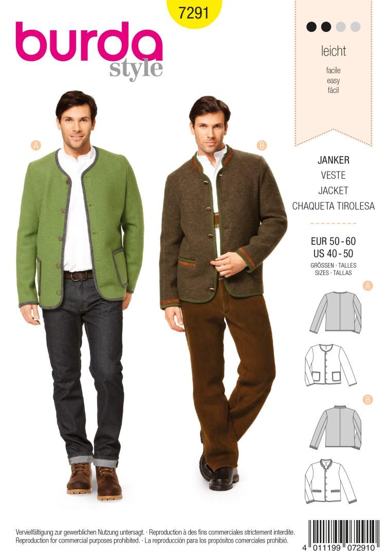Burda Style B7291 Jacket Sewing Pattern