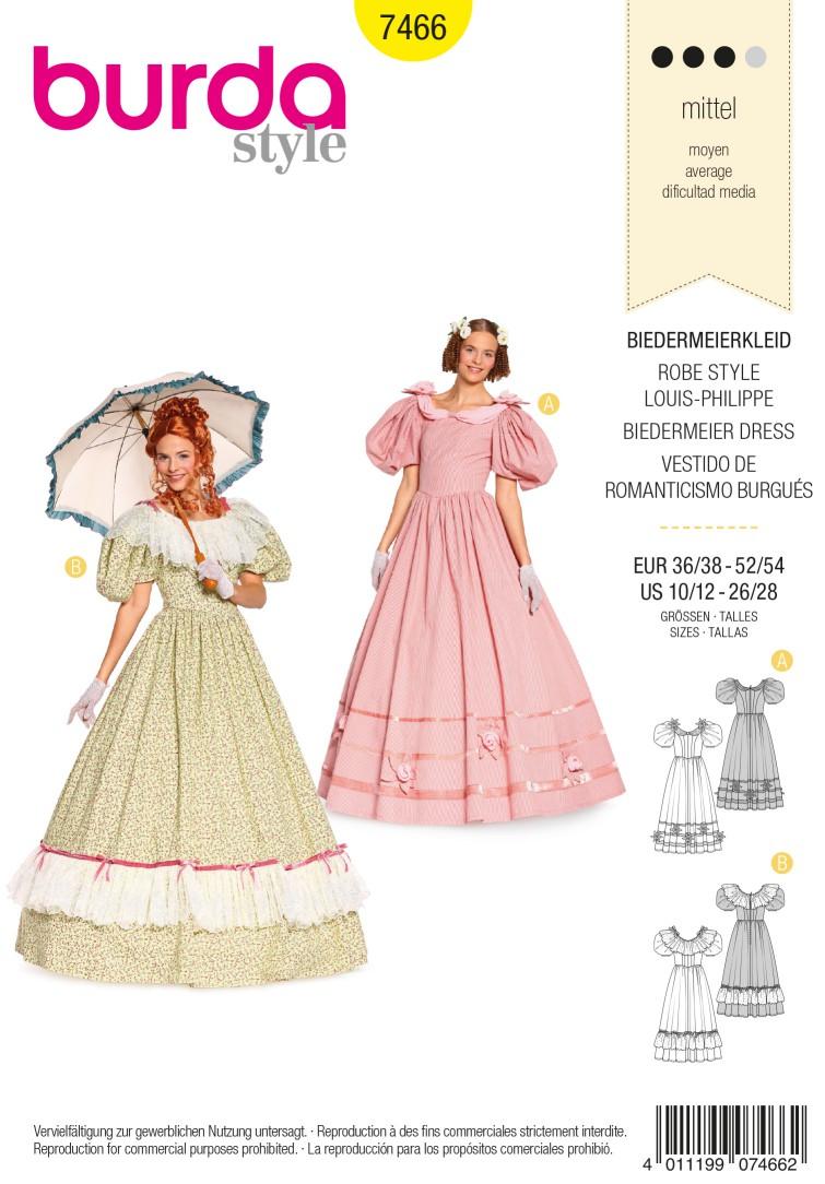 Burda Style B7466 Biedermeier Dress Sewing Pattern