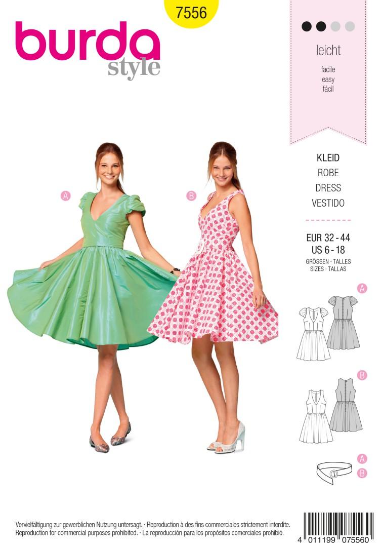 Burda Style B7556 Dress Sewing Pattern