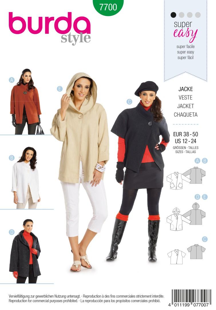 Burda B7700 Jacket Sewing Pattern