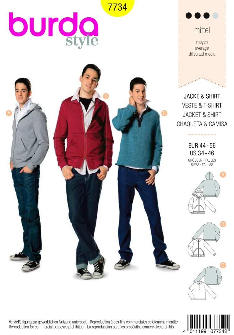Burda B7734 Jacket & Shirt Sewing Pattern