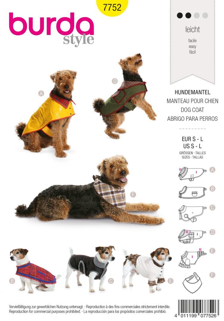 Burda B7752 Dog Coat Sewing Pattern