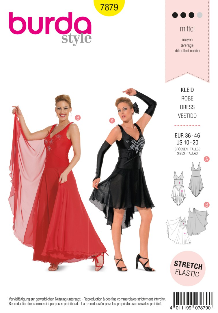Burda B7879 Dress Sewing Pattern