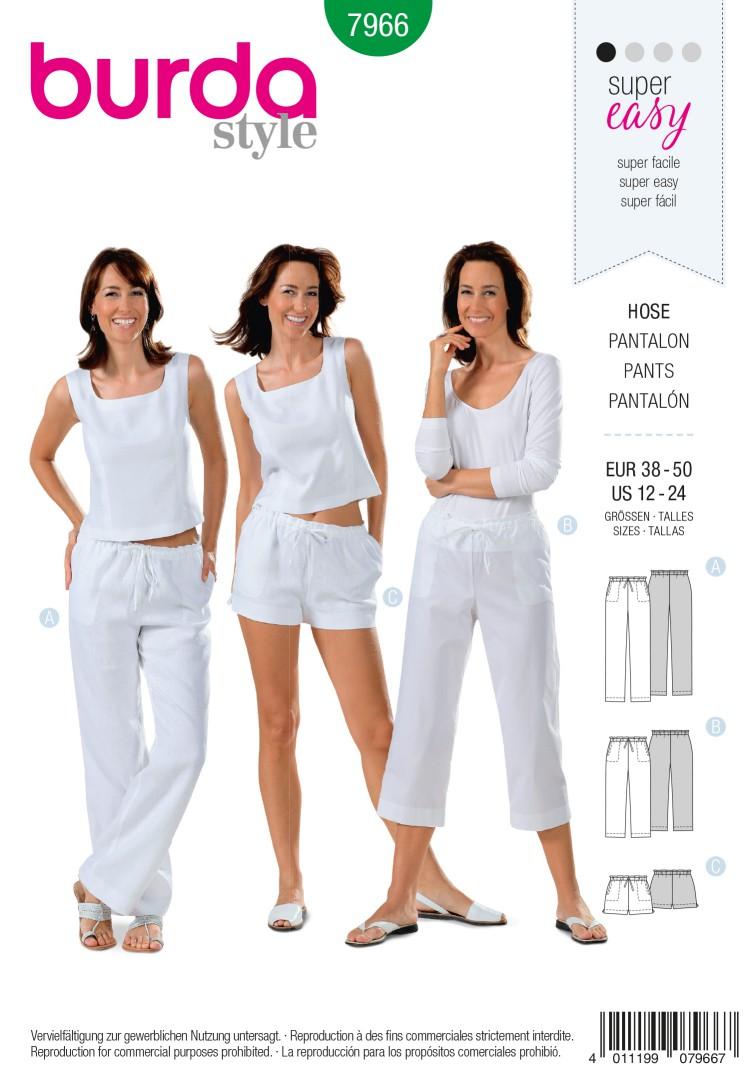 Burda B7966 Trousers Sewing Pattern