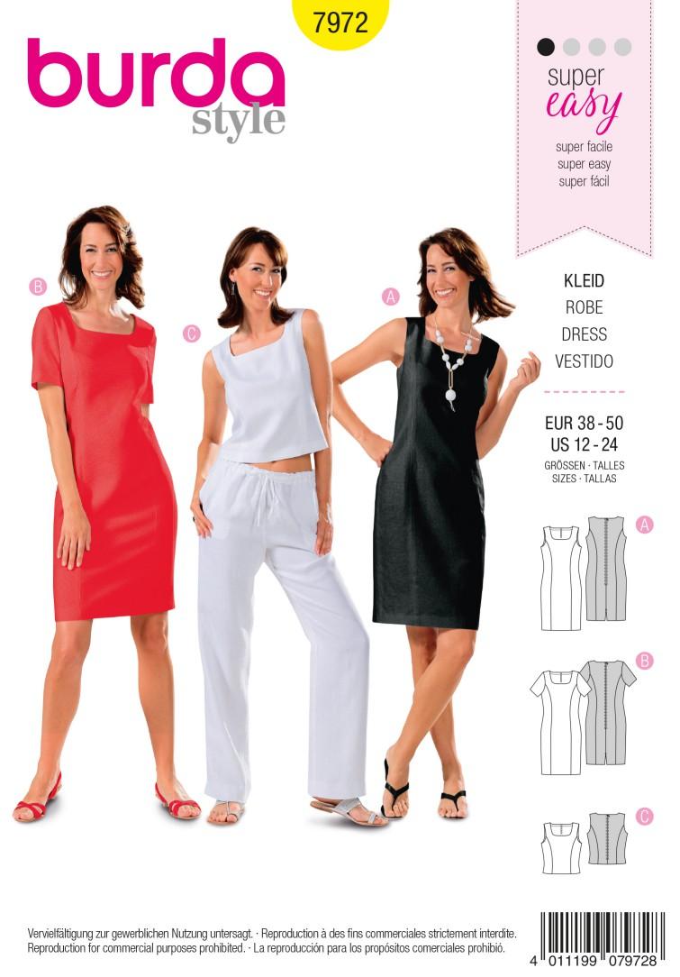 Burda B7972 Dress Sewing Pattern