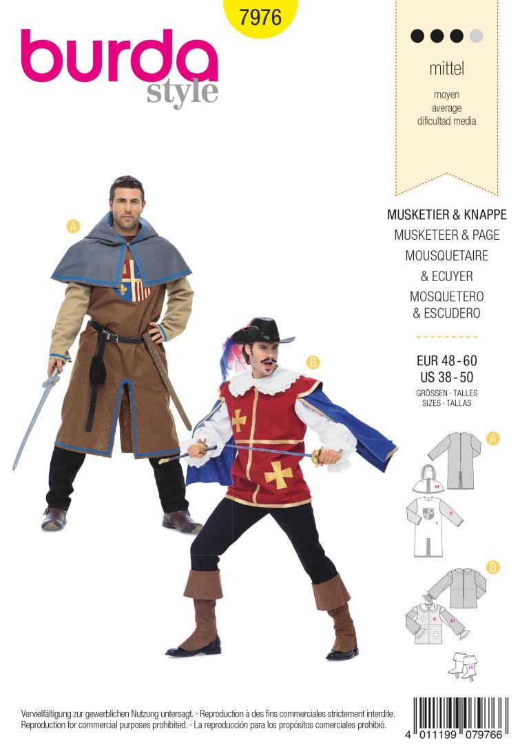 Burda B7976 Musketeer & Page Sewing Pattern