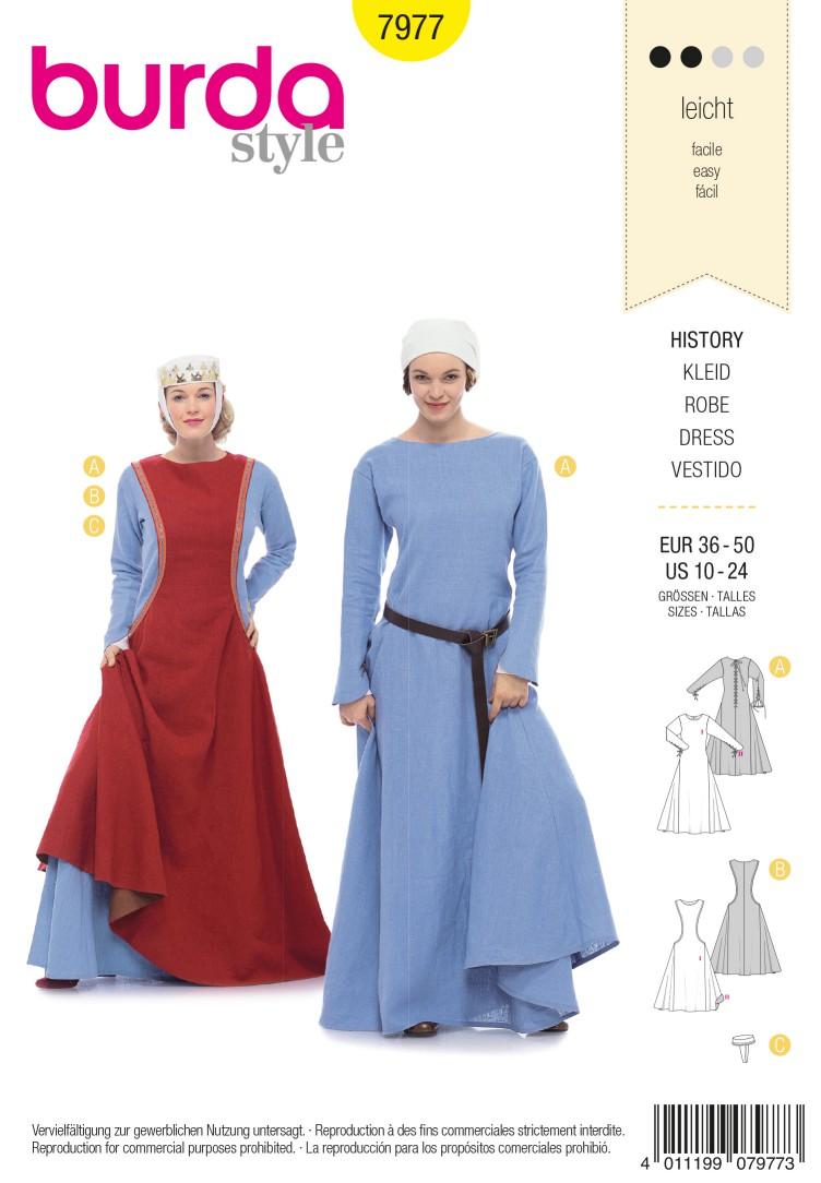 Burda B7977 History Dress Sewing Pattern