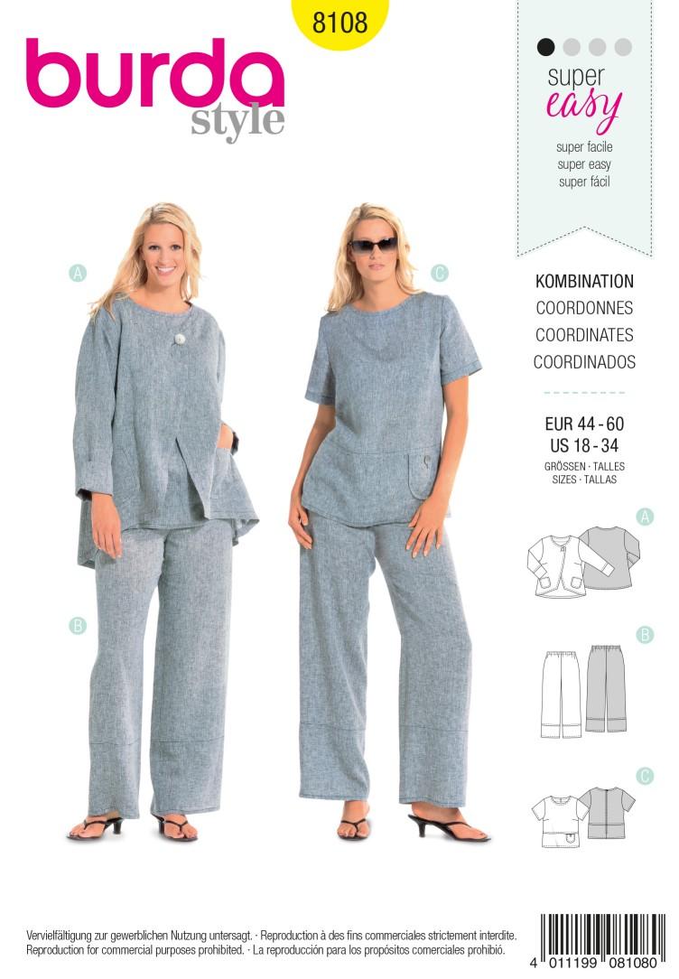 Burda B8108 Coordinates Sewing Pattern