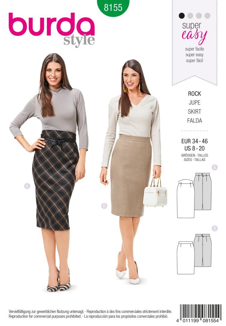 Burda B8155 Skirt Sewing Pattern
