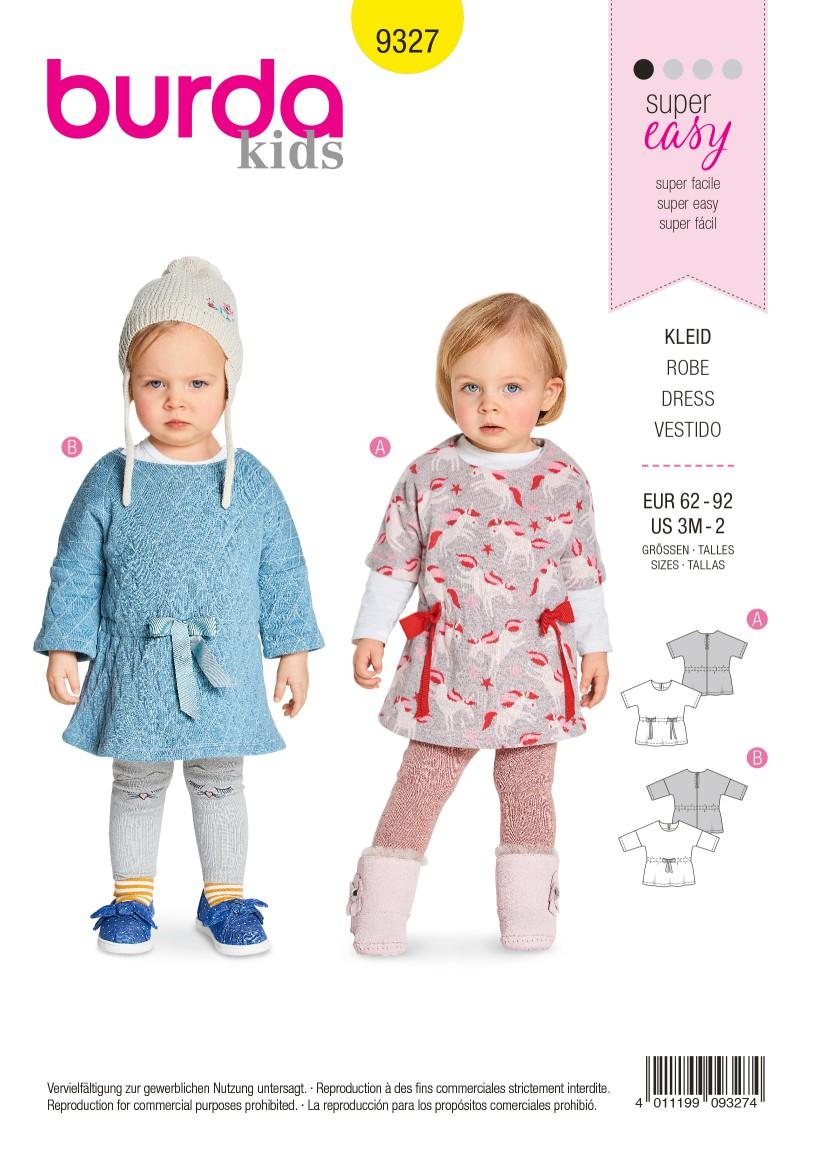 Burda Style Pattern B9327 Baby's Dress
