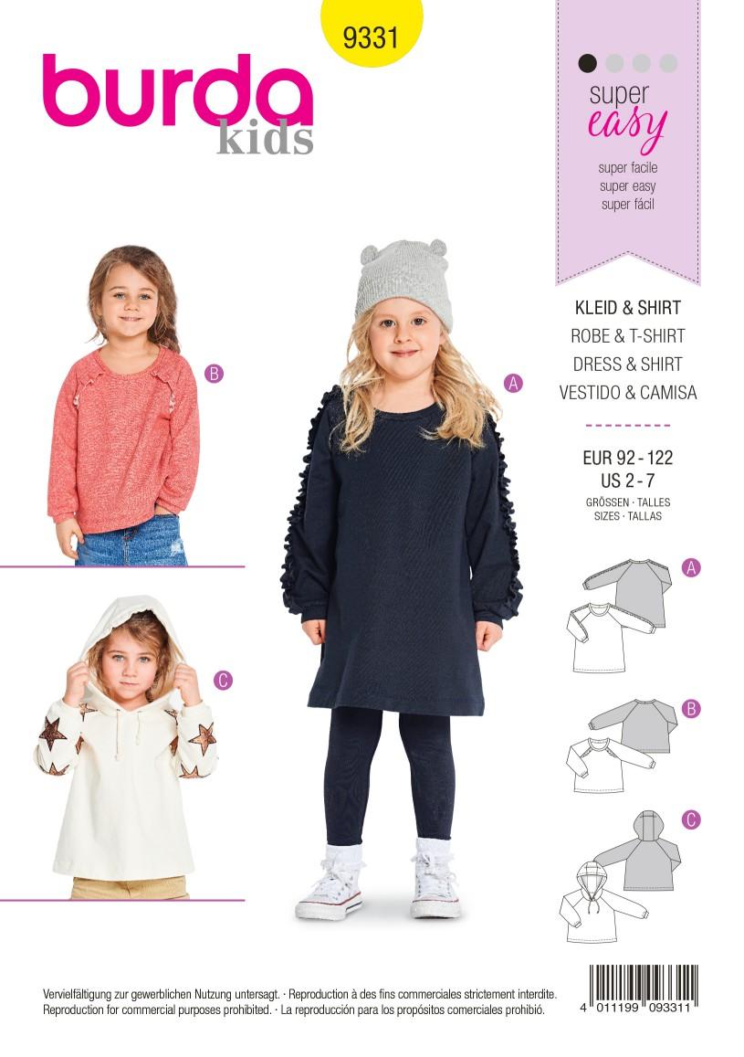 Burda Style Pattern B9331 Child's Sportswear