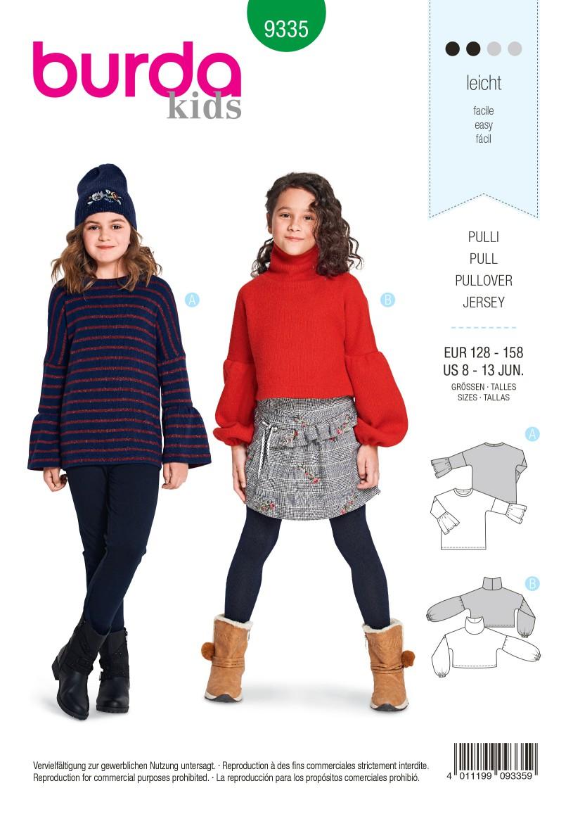 Burda Style Pattern B9335 Child's Pullover