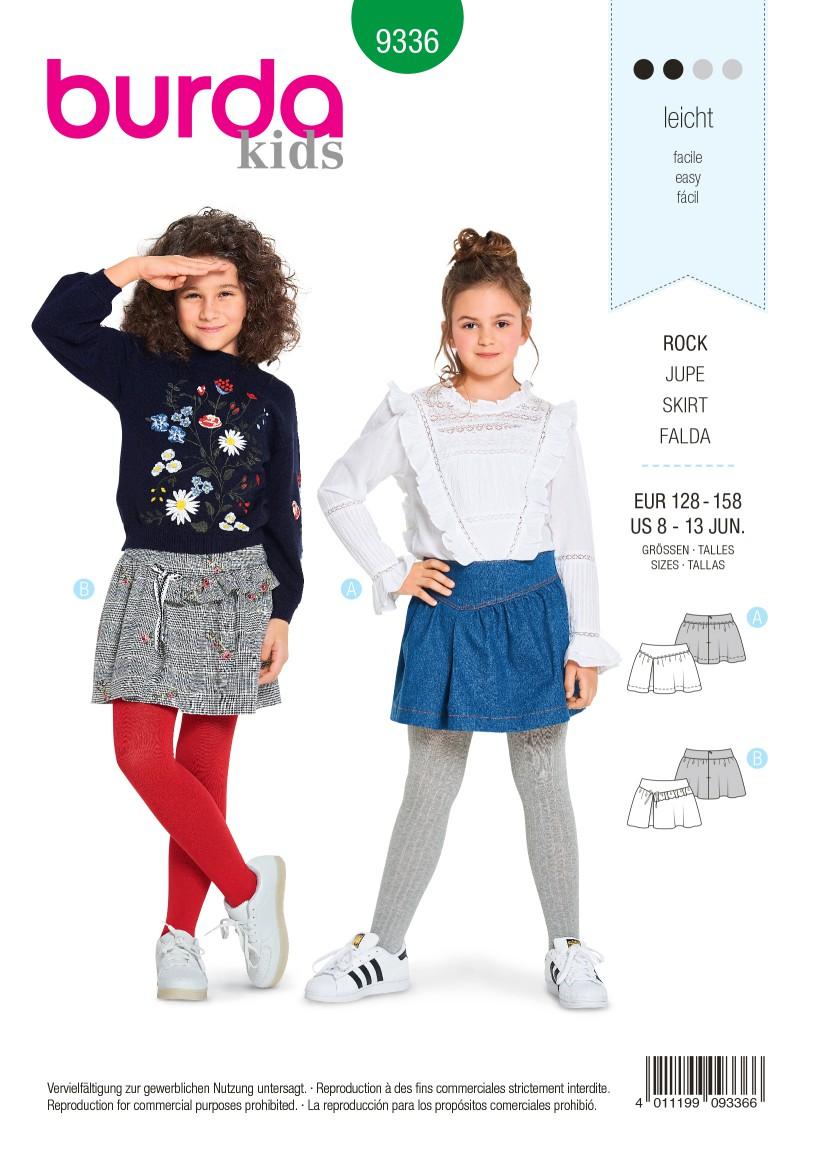 Burda Style Pattern B9336 Child's Skirt
